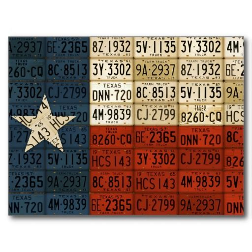 Flag Of Texas Lone Star State License Plate Art Postcard Zazzle Com License Plate Art Plate Art License Plate Crafts