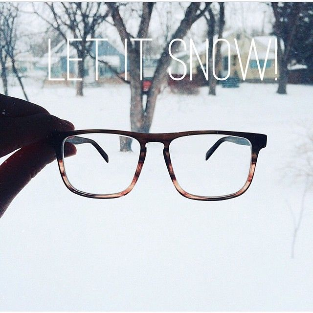 Let is snow! Martin Hemlock Glasses. Picture from @ jaybyrne. #fetcheyewear