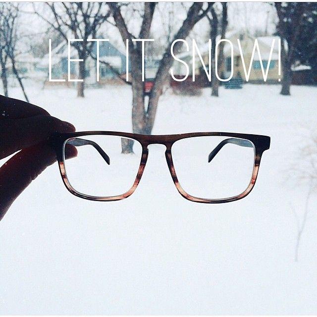 Let is snow! Martin Hemlock Glasses. Picture from @ jaybyrne. #fetcheyewear
