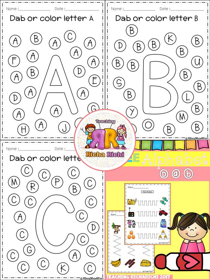 FREE Alphabet Dab (A-Z)   ECS LA   Kindergarten freebies