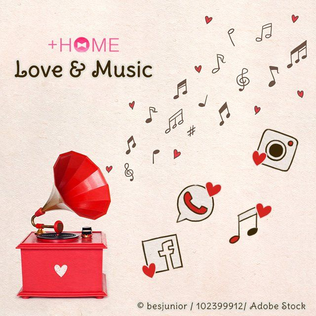 """Love & Music""   Music is flowing straight out of this cute red record player! Get nostalgic with this great theme!  Download Now:http://bit.ly/2mFhktW  #cute #wallpaper #love #design #icon #plushome #homescreen #widget #deco"