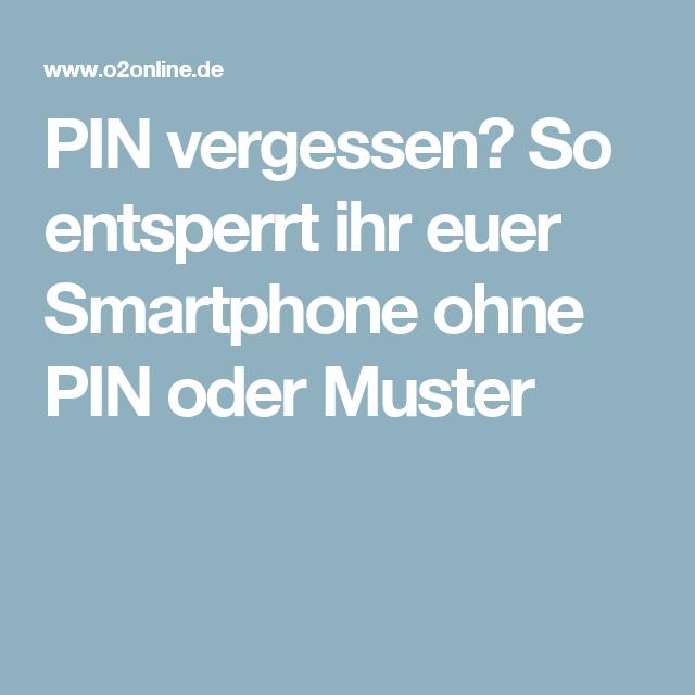 Handy entsperren ohne pin