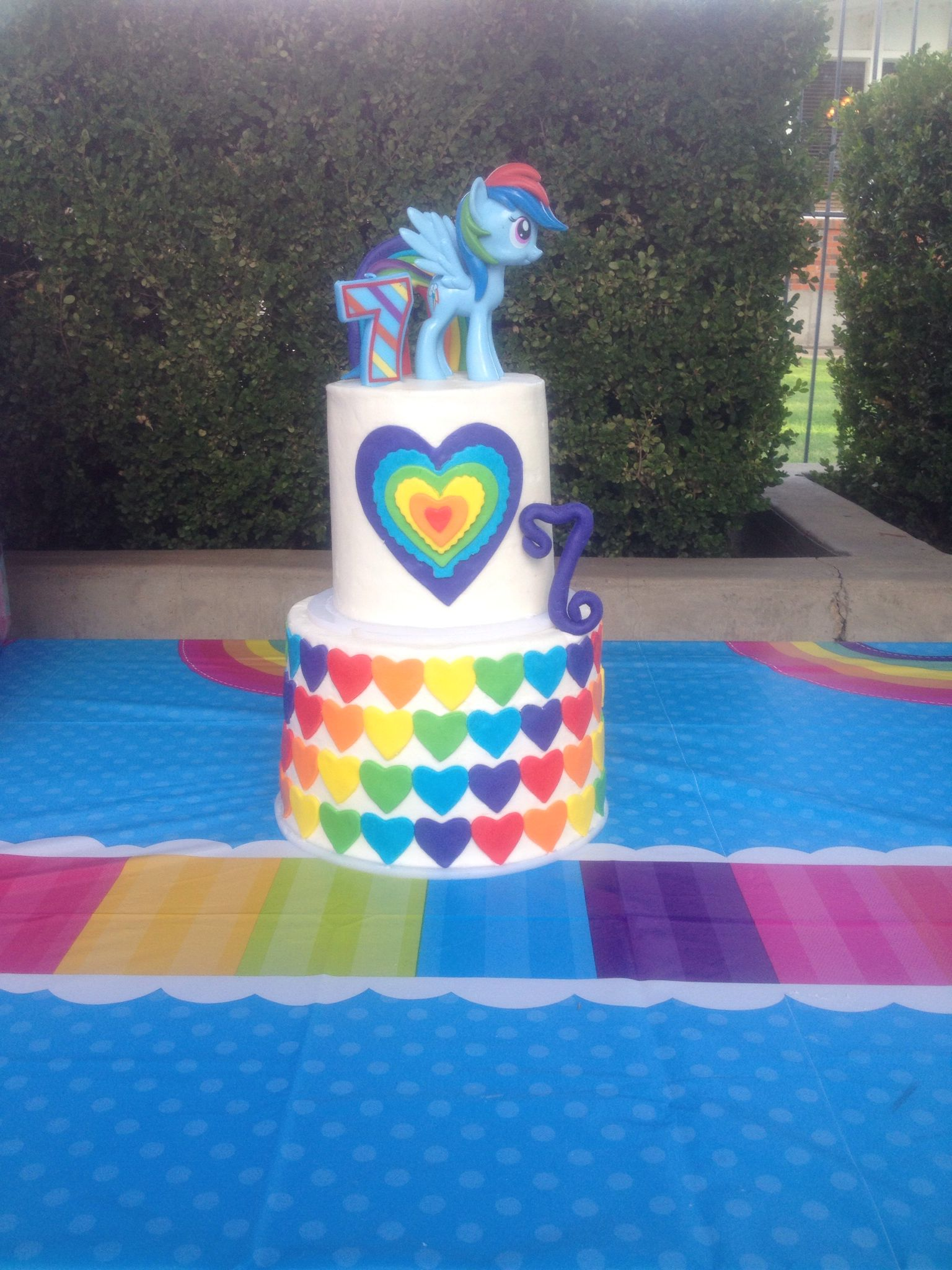 Rainbow Dash Cake My Little Pony Rainbow Cake Avery S
