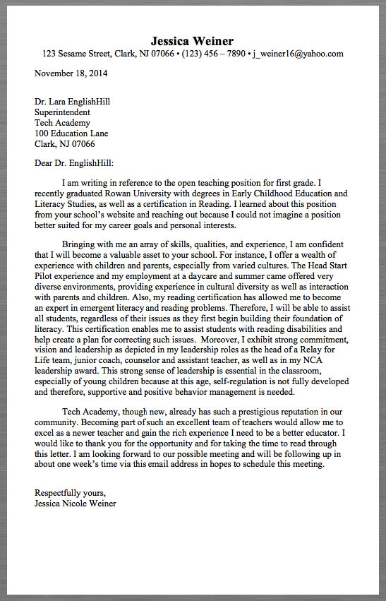 cover letter examples   good samples