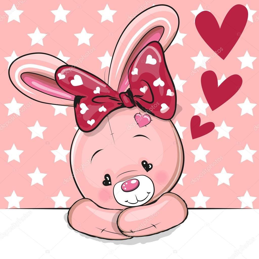 Картинка кролика с сердечком