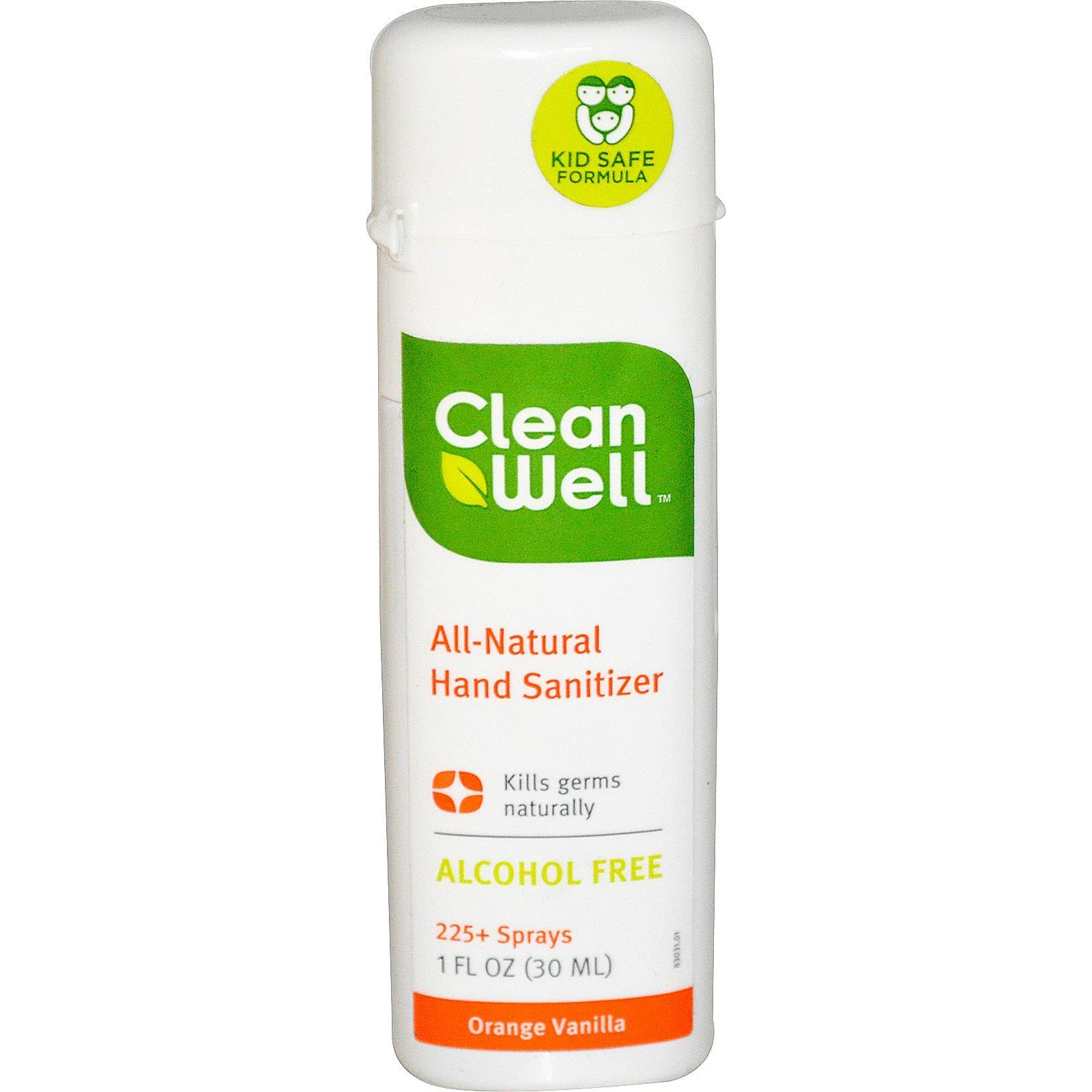 Cleanwell Hand Sanitizer Display Orange Case Of 24 1 Oz