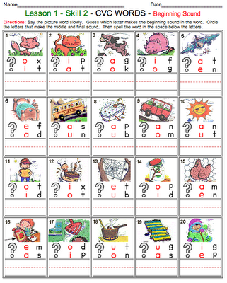 Links to phonics and sight word worksheets for all grade levels and