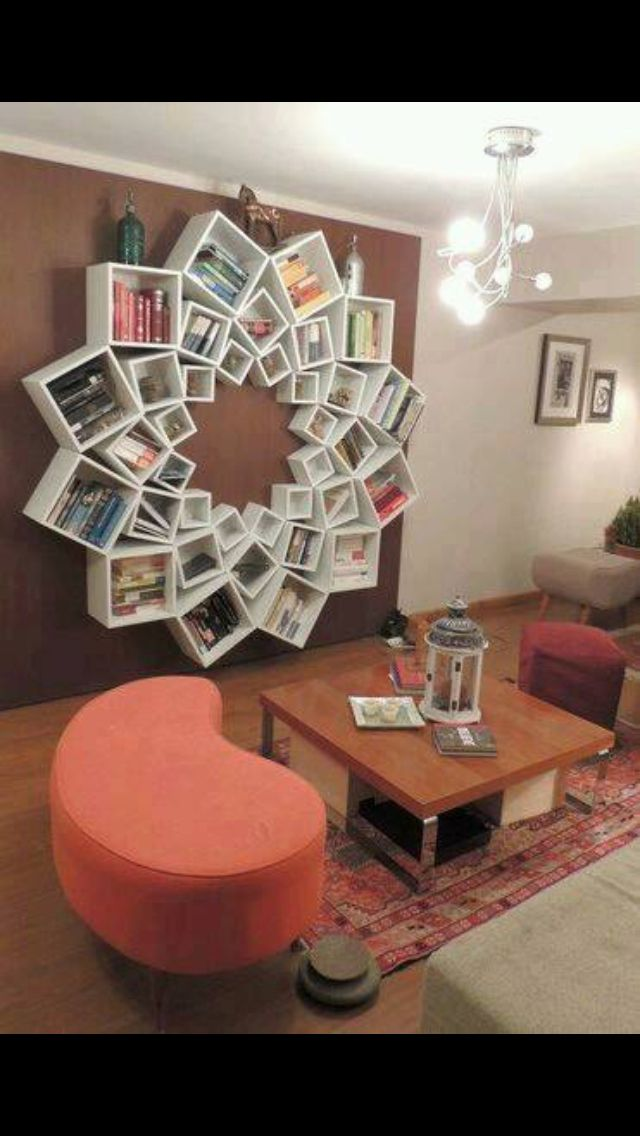 DIY Mandala Pattern Bookshelf Would Look Awesome In My Craft Room For Yarn