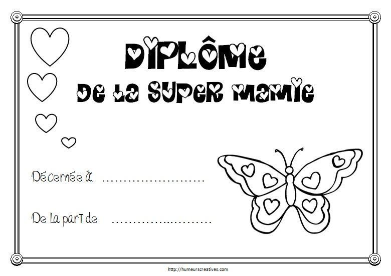 Diplômes à Imprimer Idée Cadeau Mamie Fete Des Mamies