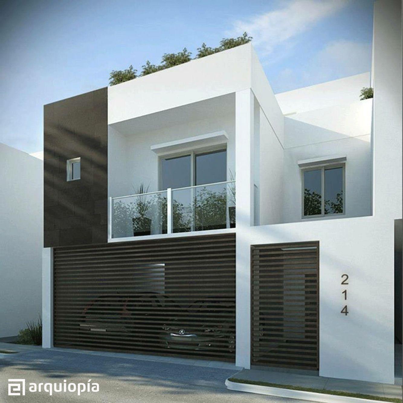 Casa 1 home style pinterest fachadas porton garage for Casas residenciales minimalistas