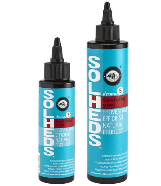 Solheds Derma5 Germ Fighting Cream 250ml Cream Shampoo Bottle Dish Soap Bottle
