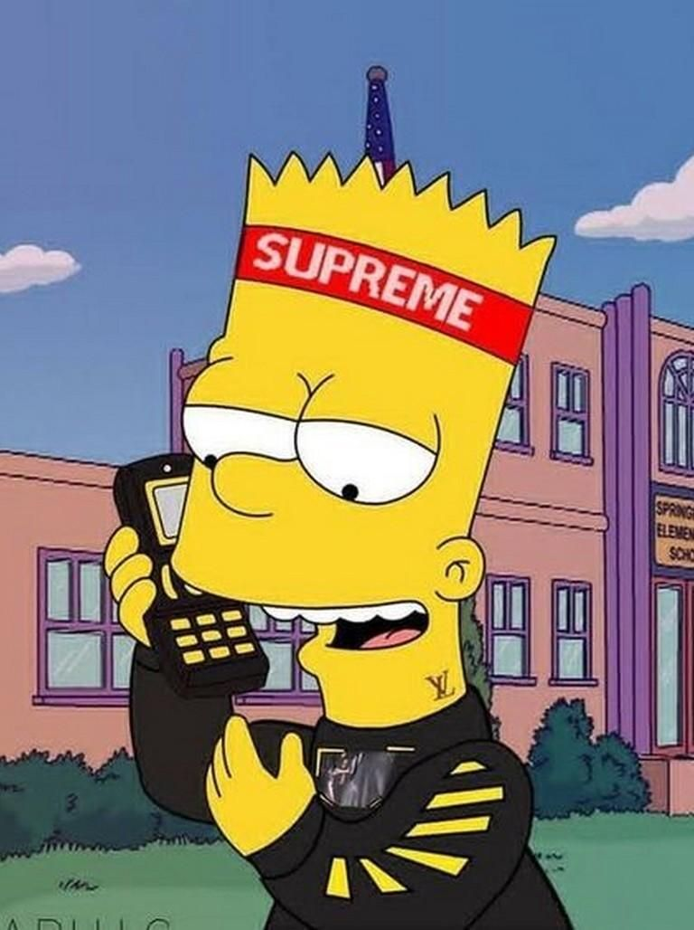 Supreme X Bart Simpson Wallpaper Hd For Android Apk Download In 2020 Bart Simpson Art Simpsons Art Bart Simpson