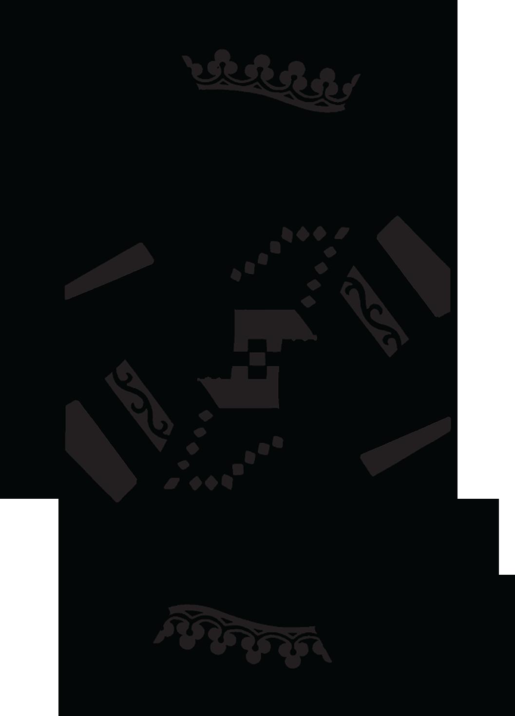 King Card Vector Art Monochrome