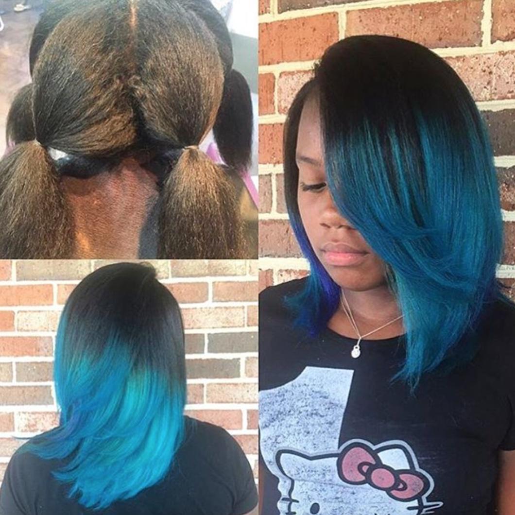 Image gallery mermaid hair - Beautiful Mermaid Blue Via Thelawofhair Read The Article Here Http Www