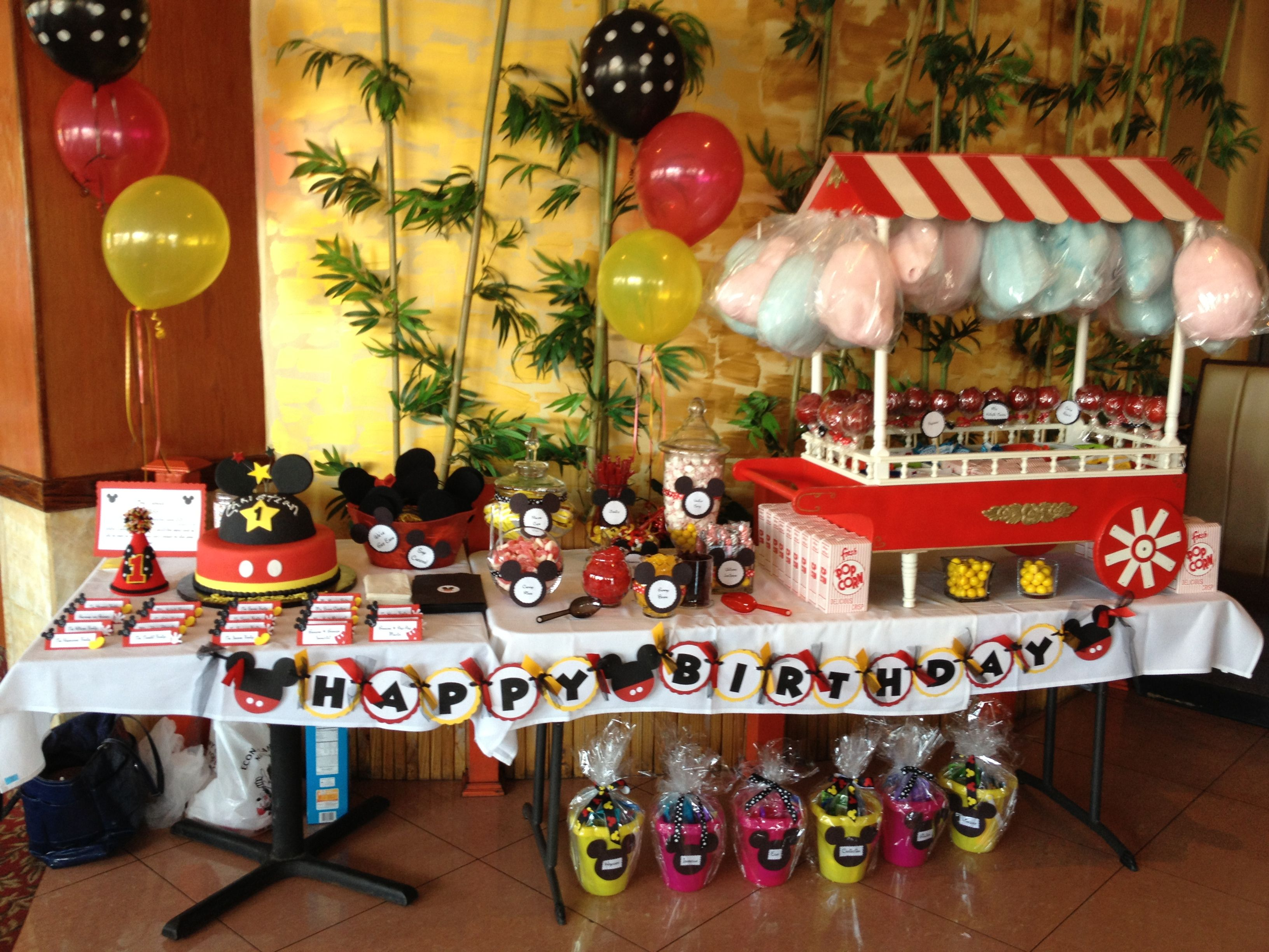 candy table with handmade table top candy cart