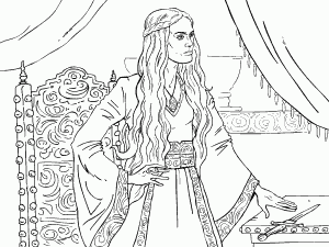 Cersei Lannister Game Of Thrones Coloring Book Coloring Pages Coloring Books Game Of Thrones Drawings