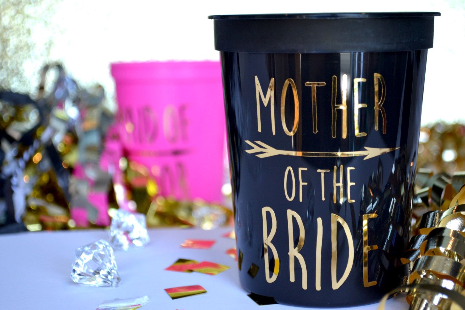 16 Oz \'MOTHER of the BRIDE\' Cups Sister Grandma Cousin Brother ...