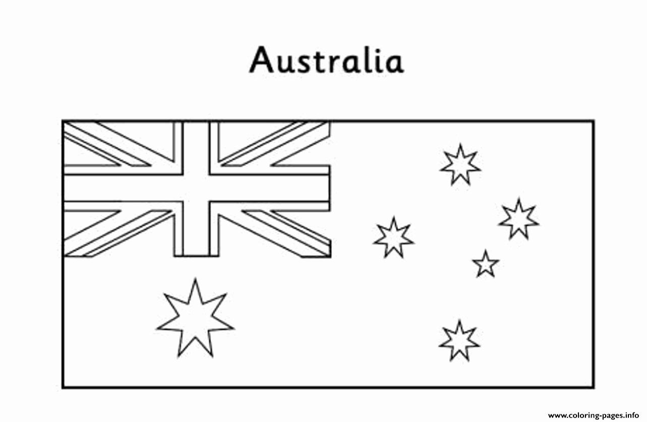 Flag Of Australia Coloring Page In 2020 Flag Coloring Pages