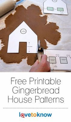 Gingerbread House Patterns | LoveToKnow #gingerbreadhousetemplate