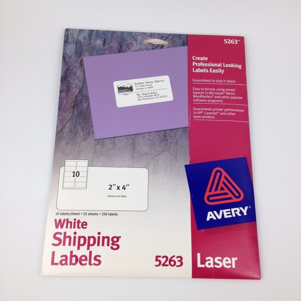 280 labels avery 5263 2 x 4 white laser shipping labels 28