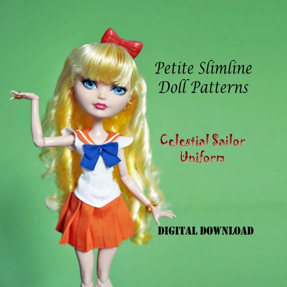 Celestial Sailor fuku magical moon girl Doll Clothes PDF Sewing ...