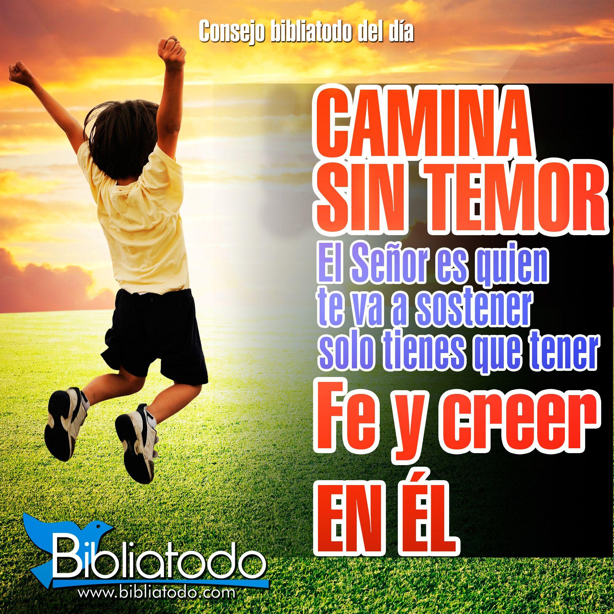 Camina Sin Temor Solo Tienes Que Tener Fe Y Creer En Dios Creer En Dios Dios Frases Bonitas