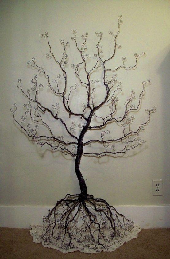 5 foot wire tree centerpiece fall in love 10 19 13 wire tree rh pinterest com