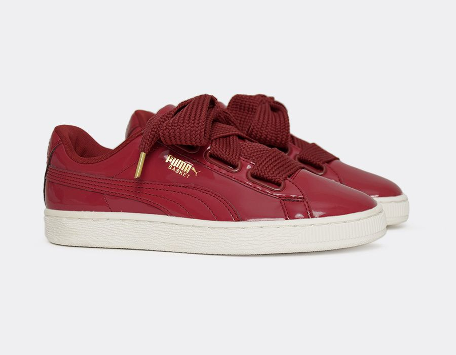 puma basket heart bordeaux