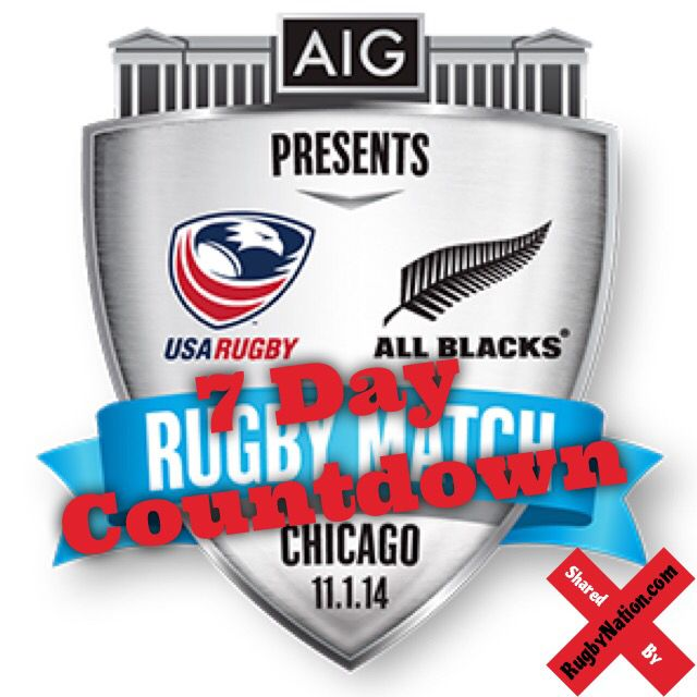 7 Day Countdown To Usavallblacks Epic Go Usarugby
