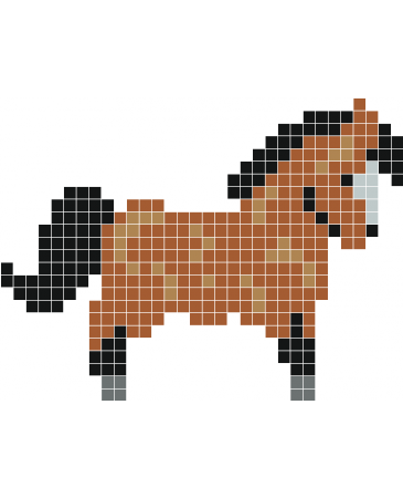 Petit Poney Stickers Muraux Pixel Art Animaux Mignon