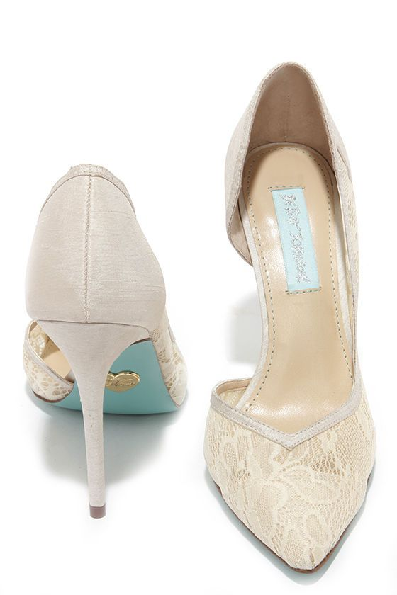 Betsey Johnson Grace Champagne Lace