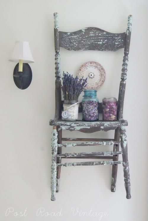 chair. lavender. wall. vintage.