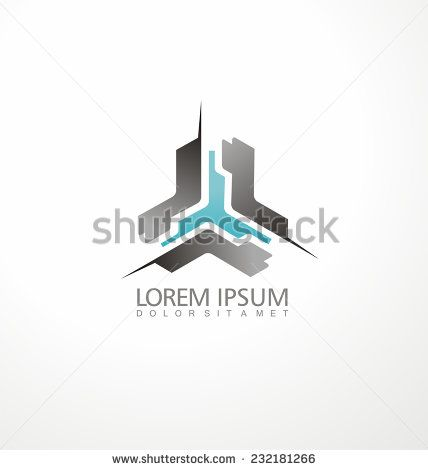 Abstract triangle shape business icon. Logo design concept for IT company.  Corporate company identity. Future software development logo symbol.