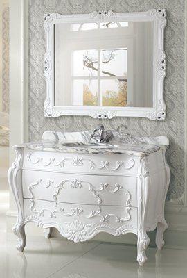 Antique Bathroom Vanity Legion White Color Beautiful