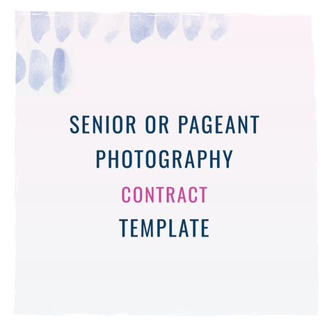 senior or pageant photographer from the contract shop thecontractshop contractsforcreatives legaltipsforcreatives contracts