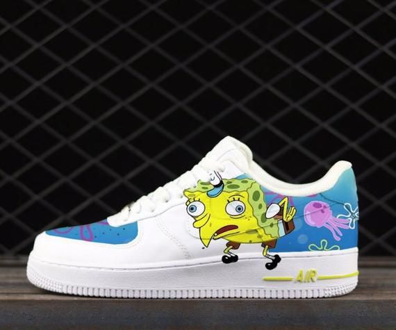 Nike Air Force 1 UV Yellow Custom 'Murakami' Edition