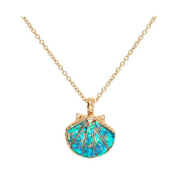 Mermaid glitter shell pendant necklace 644 liked on polyvore chicas mermaid glitter shell pendant necklace aloadofball Gallery