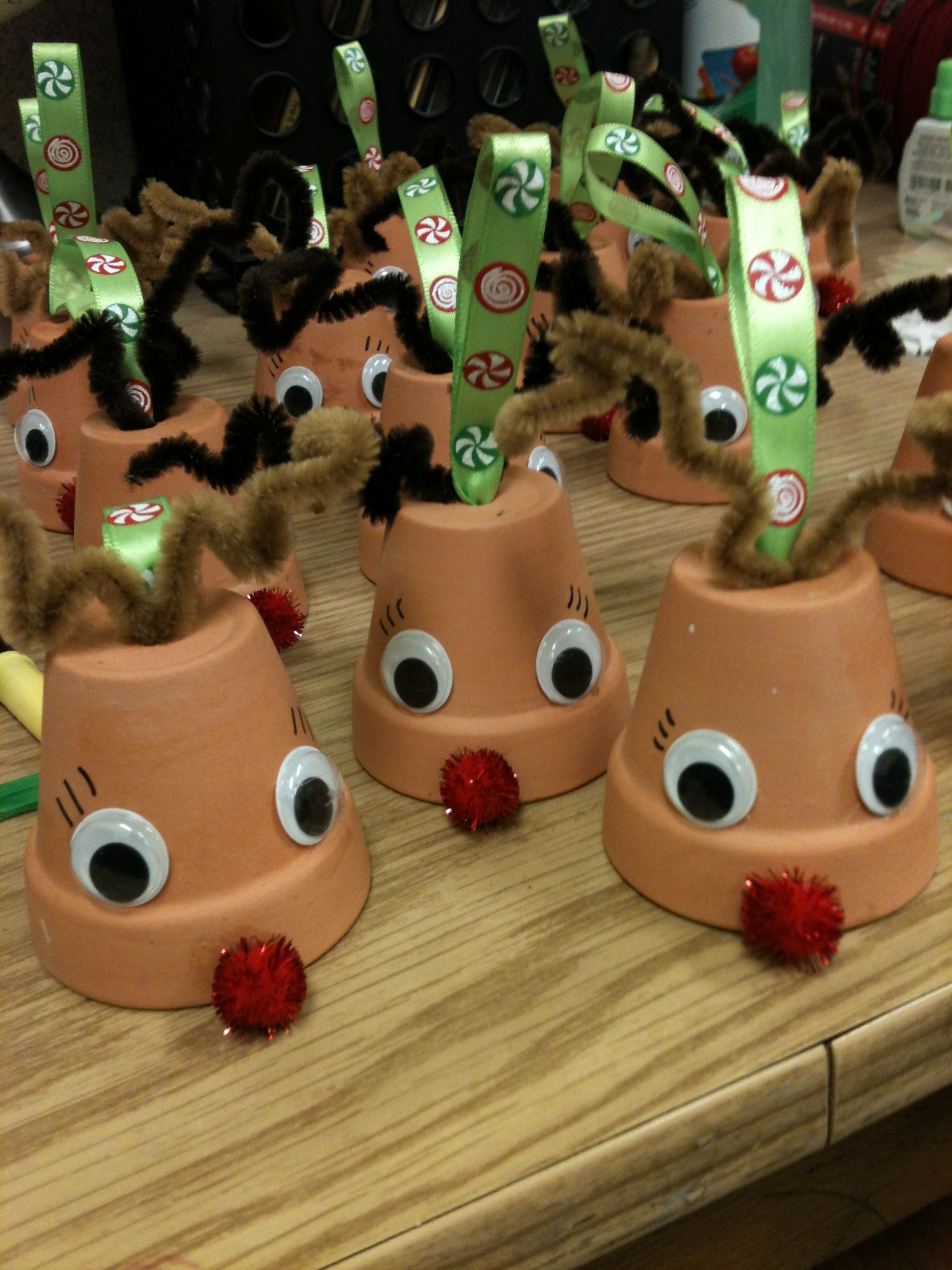My Pinterest Win My Version Of Clay Pot Reindeer Ornaments Christmas Ornament Crafts Christmas Reindeer Craft Preschool Christmas