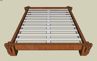 Sketchup Drawings Of Japanese Platform Bed Japanese Bed Frame
