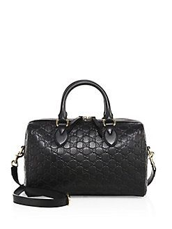 b38d579ebe63 Gucci - Medium Soft Signature Leather Boston Bag   Accessories ...