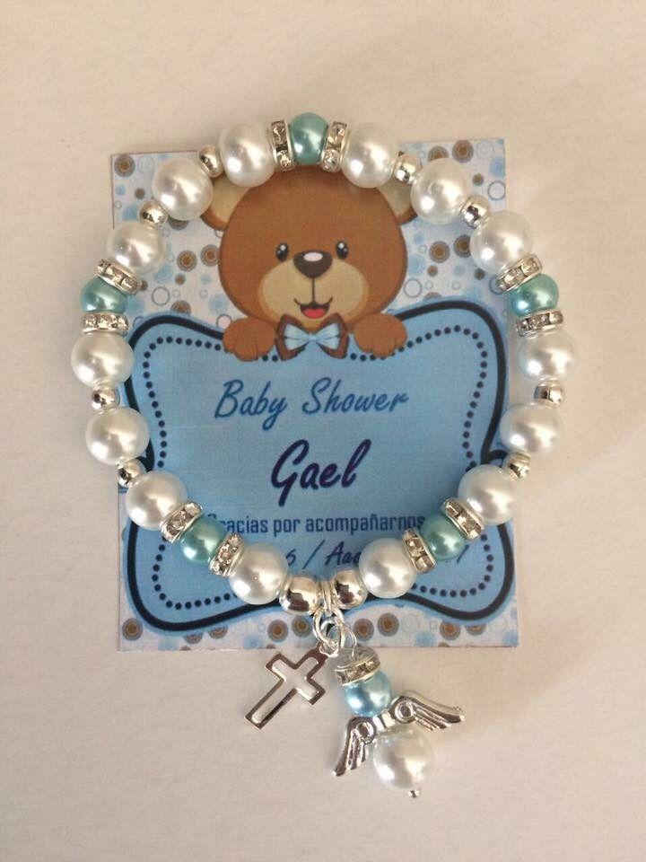 fb98d2a59e1a Pulsera Recuerdo Bautizo Baby Shower Fiesta Boda Angel Cruz ...