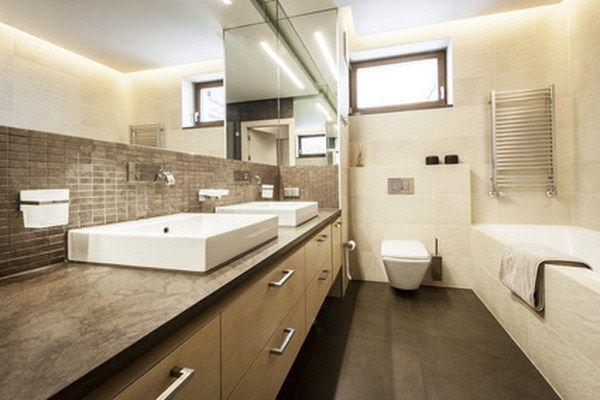 Salle de bain ardoise et bois  Vente de mobilier sur mesure Aix en