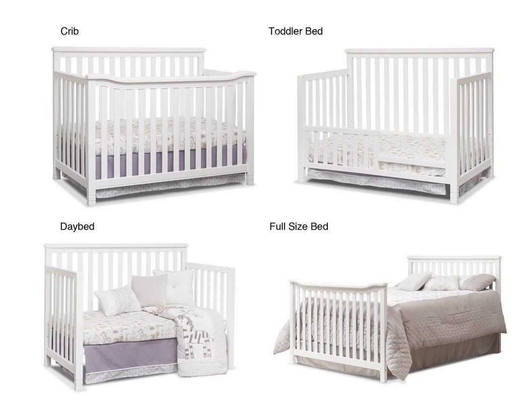 Palisades 4 In 1 Convertible 3 Piece Crib Set Room Box Nursery Furniture Sets Room Themes