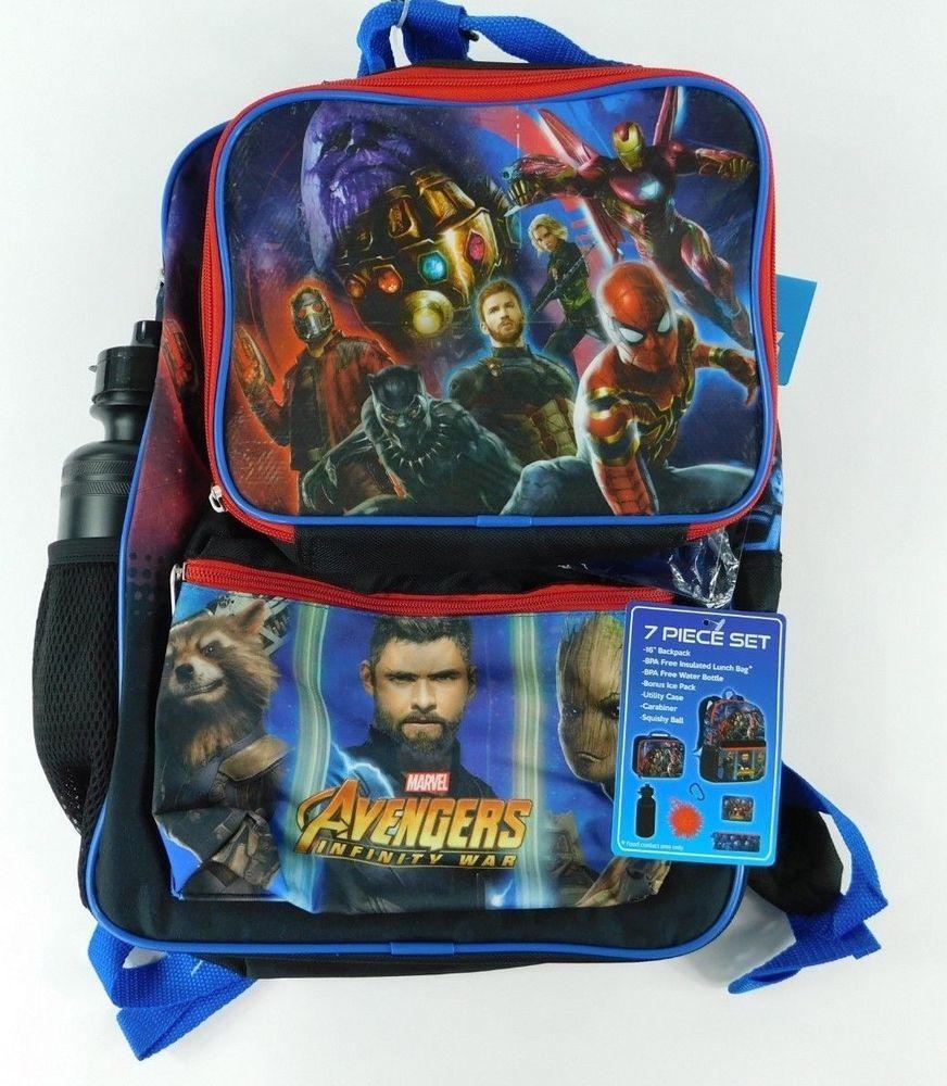 "Avengers 16/"" Kids/' Backpack 7pc Set"