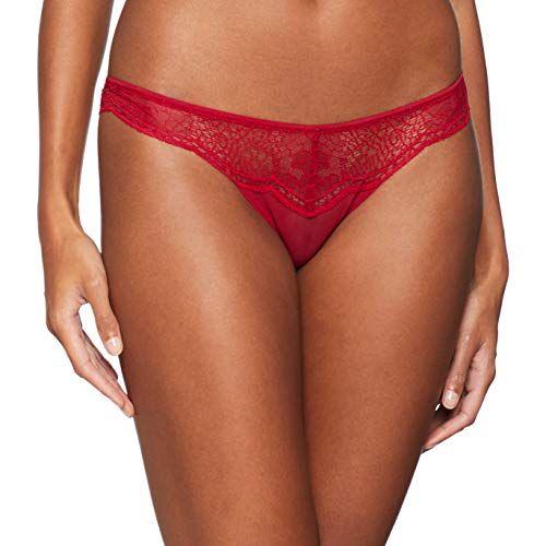 523d5b8140a5 Calvin Klein Damen Brazilian Slip Rot (Ember Blaze Zb7) 36  (Herstellergröße: S