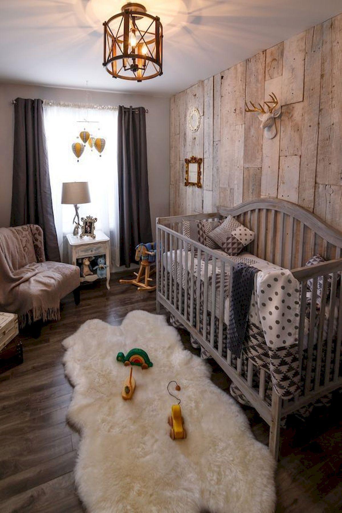 30 Adorable Rustic Nursery Room Ideas images