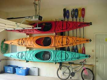 garage in to canoe store system kayak ceiling stor best way storage