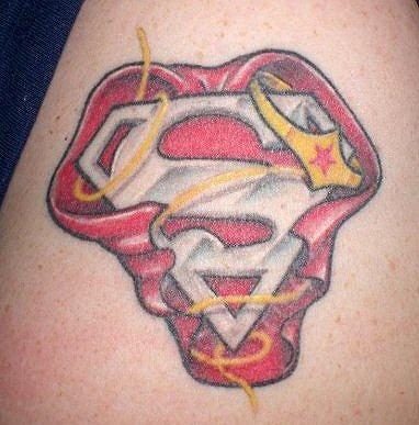 Superman Tattoos For Women Jediartist Superman Wonder Woman Tattoo