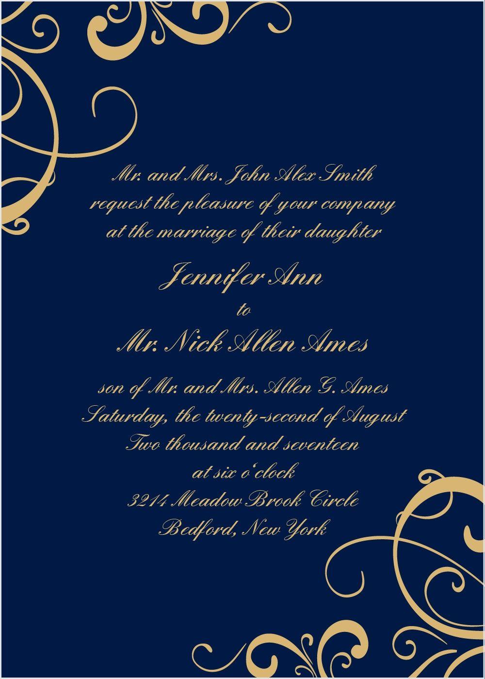 Vintage wedding decorations ideas november 2018 Simple Swirls Foil Wedding Invitation  wedding   Pinterest