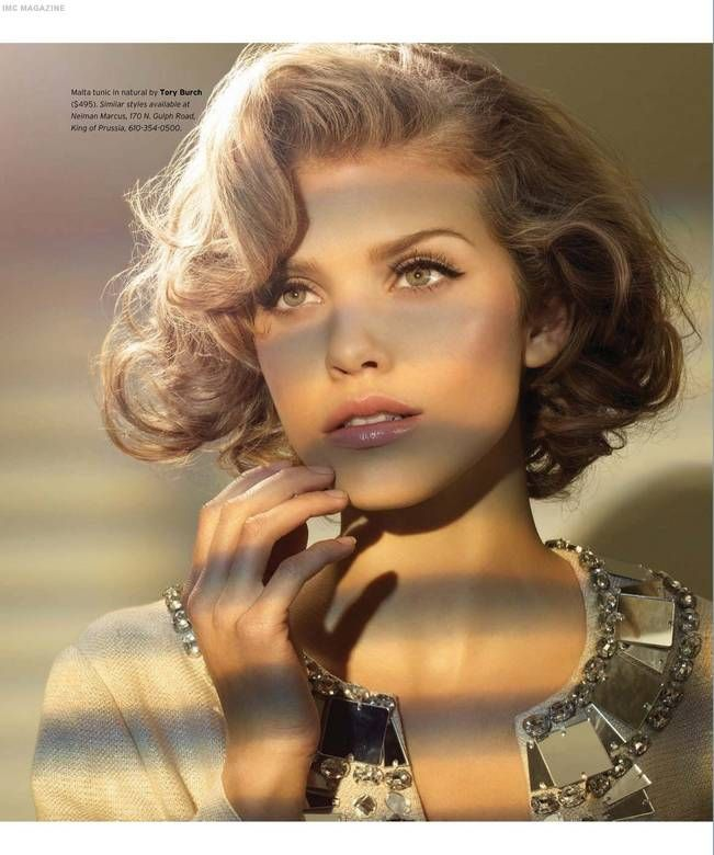 annalynne mccord-retro bob haircut